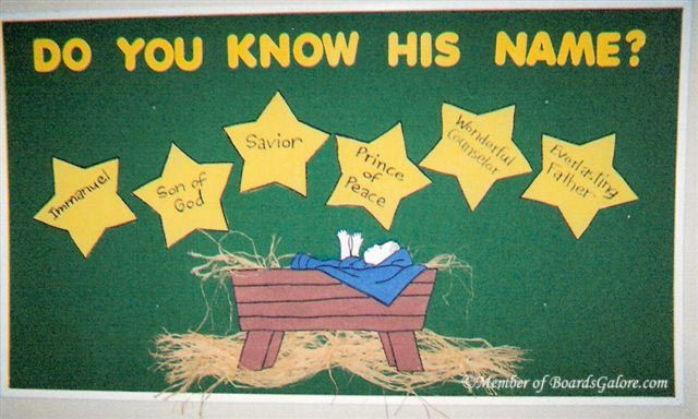 Christmas Bulletin Board 6 Names Of Christ Godly Ladies