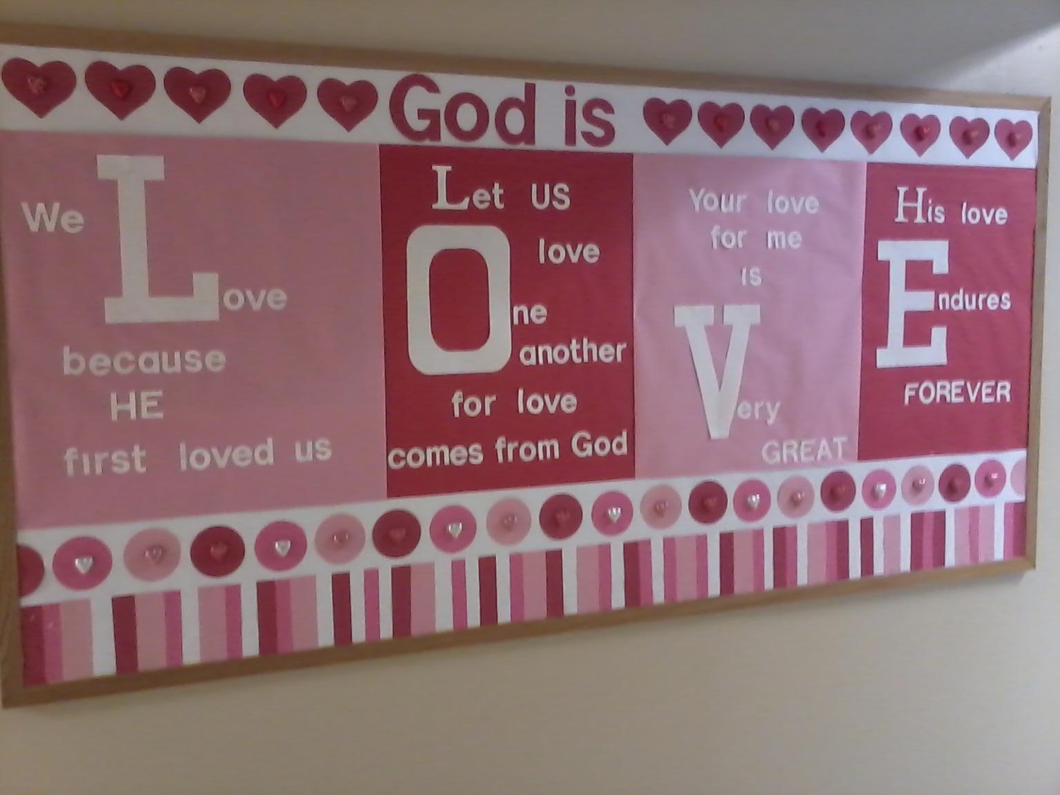 God Is Love Bulletin Board Godly Ladies